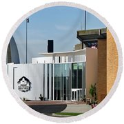 Football Hall Of Fame In Canton Round Beach Towel
