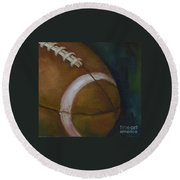Football No. 1 Round Beach Towel