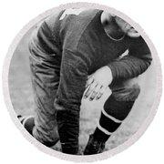 Football Player Jim Thorpe Round Beach Towel
