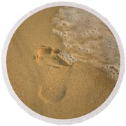 Footprint Round Beach Towel