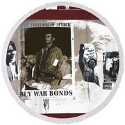 For And Against War Ww1 Ww2 Vietnam 1971-2012 Round Beach Towel
