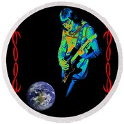 For Earth Below #2 Round Beach Towel