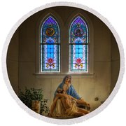For Our Sins Round Beach Towel