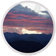 For Purple Mountains Majesty Round Beach Towel