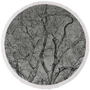 For The Love Of Trees - 2 - Monochrome  Round Beach Towel