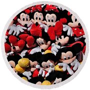 For The Mickey Mouse Lovers Round Beach Towel