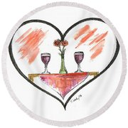 For Two Round Beach Towel