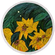 For Vincent By Jrr Round Beach Towel