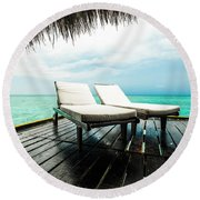 For You And I Round Beach Towel