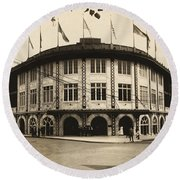 Forbes Field Pittsburgh 1909 Round Beach Towel
