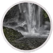 Force Of Nature Round Beach Towel