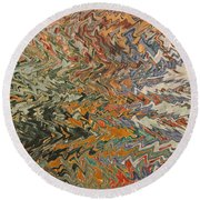 Forces Of Nature - Abstract Art Round Beach Towel