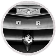Ford F-1 Pickup Truck Grille Emblem Round Beach Towel