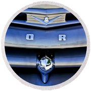 Ford F-1 V8 Truck Front End Round Beach Towel
