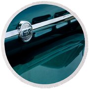 Ford F-2 Pickup Truck Side Emblem Round Beach Towel
