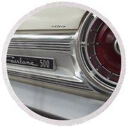 Ford Fairlane 500 Emblem Round Beach Towel