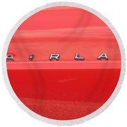 Ford Fairlane Emblem Round Beach Towel