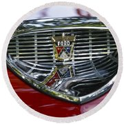 Ford Hood Emblem Round Beach Towel