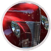 Ford Hotrod Round Beach Towel