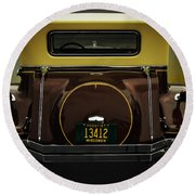 Ford Model A Cabriolet Round Beach Towel