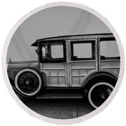 Ford Model A Station Wagon 1930 Round Beach Towel