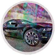 Ford Mustang Round Beach Towel