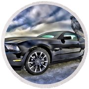 Ford Mustang - Featured In Vehicle Eenthusiast Group Round Beach Towel