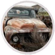 Ford Old Pickup Round Beach Towel