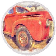 Ford Panel Truck Round Beach Towel