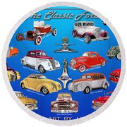Another Ford Poster Round Beach Towel
