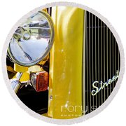 Ford Roadster - 1932 Round Beach Towel