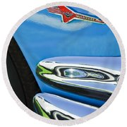 Ford Thunderbird Emblem -0505c Round Beach Towel