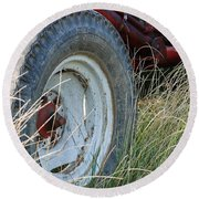 Ford Tractor Tire Round Beach Towel