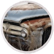 Ford Truck Old F350 Round Beach Towel