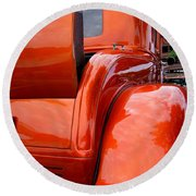 Ford V8 Rear View With Rumble Seat Round Beach Towel
