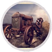 Fordson F Tractor Round Beach Towel