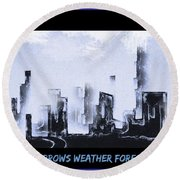 Forecast Round Beach Towel