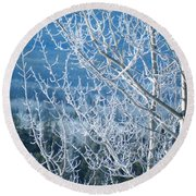 Foreground Frost Round Beach Towel