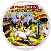 Forepaugh And Sells The Orfords Round Beach Towel