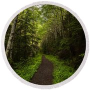 Forest Beckons Round Beach Towel