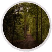 Forest Entry Round Beach Towel