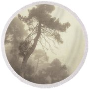 Forest Fairy Round Beach Towel
