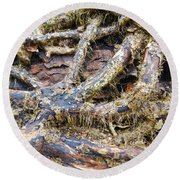Forest Fingers Round Beach Towel