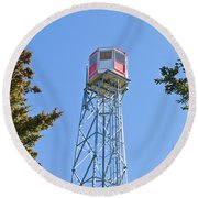 Forest Fire Watch Tower Steel Lookout Structure Round Beach Towel