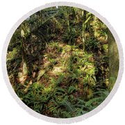 Forest Floor Round Beach Towel