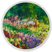 Forest Garden Round Beach Towel