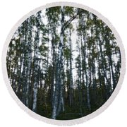 Forest II Round Beach Towel