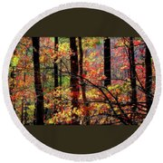 Color The Forest Round Beach Towel