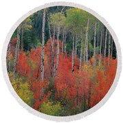 Forest Of Color Round Beach Towel