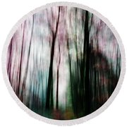 Forest Of Imagination Round Beach Towel